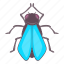 bug, fly, insect, nature icon