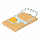 cheese, mouse, mousetrap, trap icon