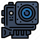accessories, action, camera, extreme icon