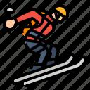 extreme, ski, skiing, sport icon
