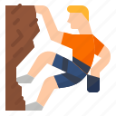 climbing, extreme, rock, wall icon