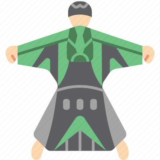 extreme, fly, sport, sports, wingsuit icon