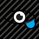 crying, eye, eyedrop, eyedrops, teardrop, tears, vision icon