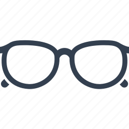 eyeglasses, glasses, lens, optical, style, view, vision, wear icon