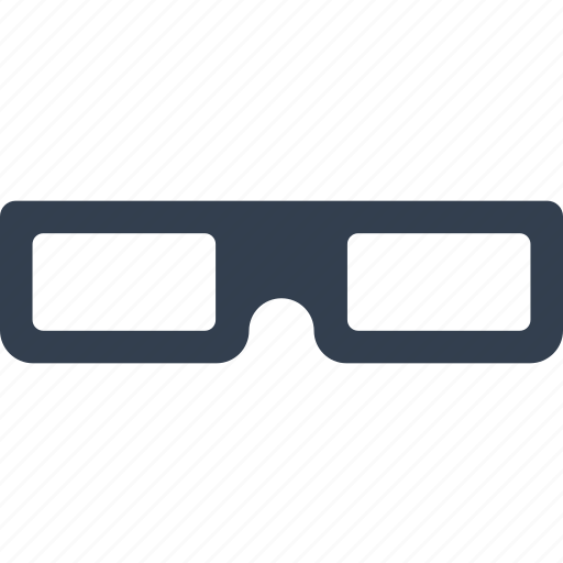 3d glasses, cinema, film, glasses, optical icon
