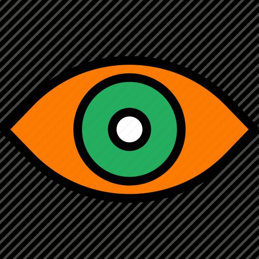 eye, face, human, vision icon