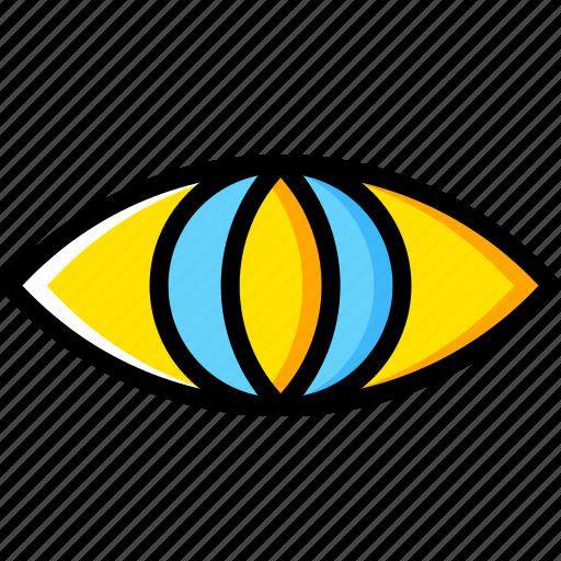 Eye, animal, vision, face icon