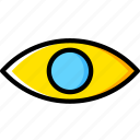 eye, face, human, vision icon