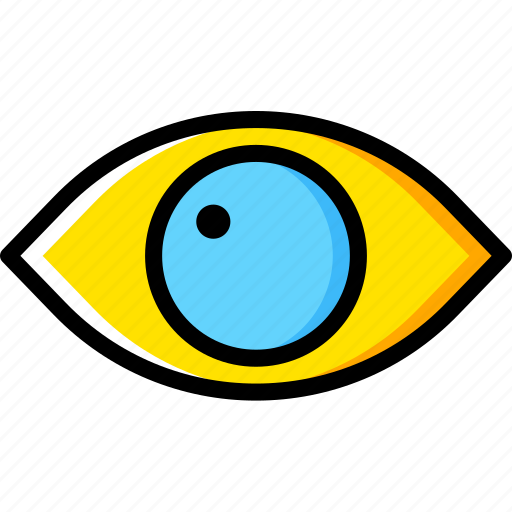 Eye, human, vision, face icon