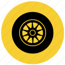 f1, part, tire, tires, wheel icon