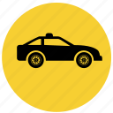 auto, f1, pace car, police, vehicle icon