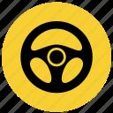 drive, f1, handling, rudder icon