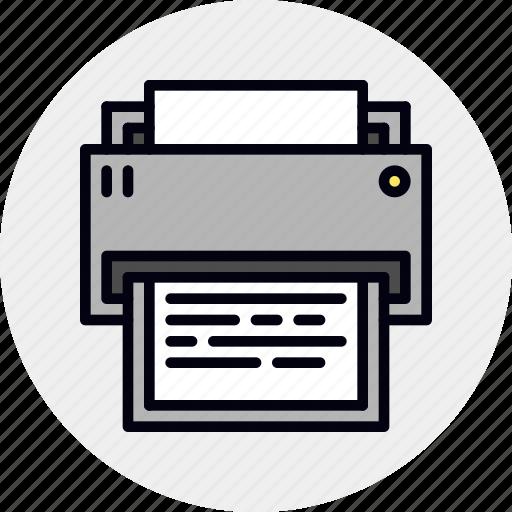 Digital, printer, printing icon