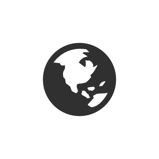 earth, facebook, globe, notification icon