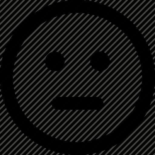 emoji, face, normal, ok icon