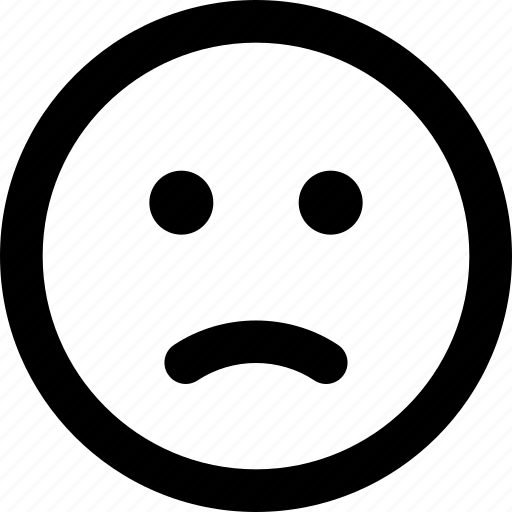emoji, face, sad, unsatisfied icon