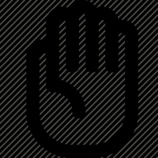 break, hand, palm, stop icon