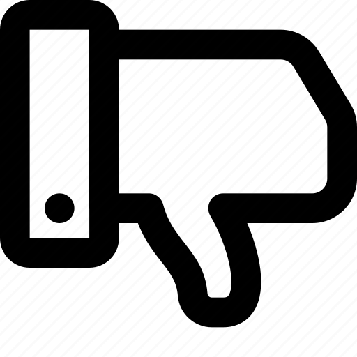 dislike, downvote, thumb down icon