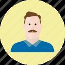 man, people, avatar, emoji, face, person, user