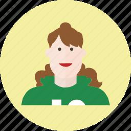 avatar, clothing, face, fashion, female, girl, woman icon