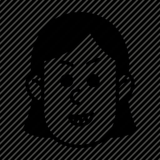 emoji, emotion, happy, naughty, person, smile, woman icon