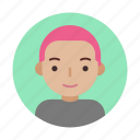 face, female, head, pink, shorthair, user, userpic icon