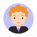 businessman, curly, male, suit, face, user, userpic