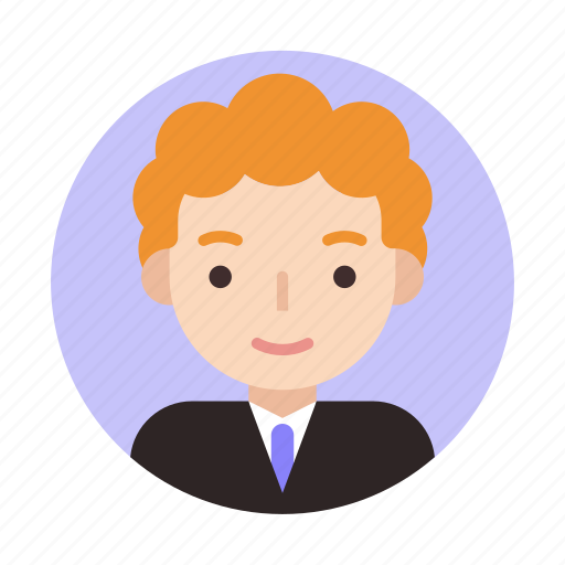 businessman, curly, face, male, suit, user, userpic icon