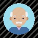 avatar, face, grandfather, grandpa, male, old, user icon