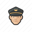 airline, pilot, asian, male