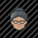 granny, elderly, old, woman, african, hairbun, avatar