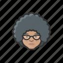 granny, elderly, old, woman, asian, curly, avatar