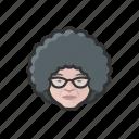 granny, elderly, old, woman, caucasian, curly, avatar