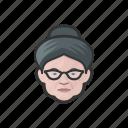 granny, elderly, old, woman, caucasian, hairbun, avatar