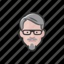 man, caucasian, goatee, glasses, avatar