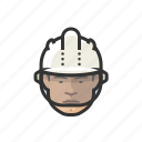 construction, worker, hardhat, asian, man