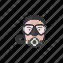 scuba, diver, man, caucasian, avatar