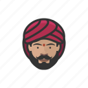 traditional, indian, male, avatar, face
