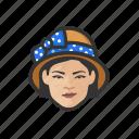 avatar, cloche, hat, woman, asian