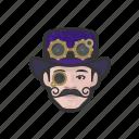 avatar, steampunk, man, caucasian