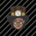 avatar, steampunk, woman, african