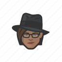 avatar, trenchcoat, investigator, woman, african