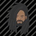 rastafarian, male, casual, avatar, face