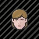 woman, shorthair, earrings, avatar, face