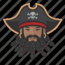 avatar, pirate, man, african