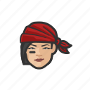 avatar, pirate, woman, asian