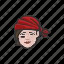 avatar, pirate, woman, caucasian
