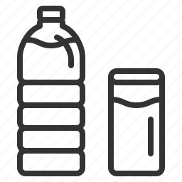 beverage, bottle, complimentary, drink, glass, water icon