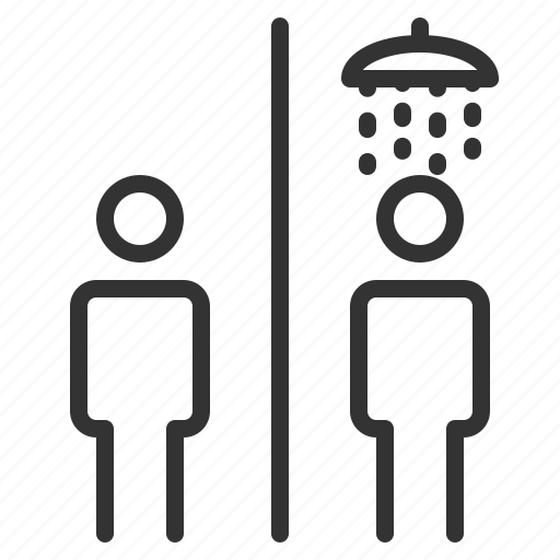 bath, bathroom, share, shower, sign, wayfinding icon