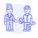 1, builder, deal, engineer, factory, foreman, male, payment, supervisor, welder, worker icon